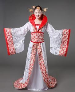 Image 5 - Luksusowy kostium dynastii Tang drag tail konkubina wróżka damska kostium sceniczny panna młoda chińskie wesele motyw studyjny taniec sukienka