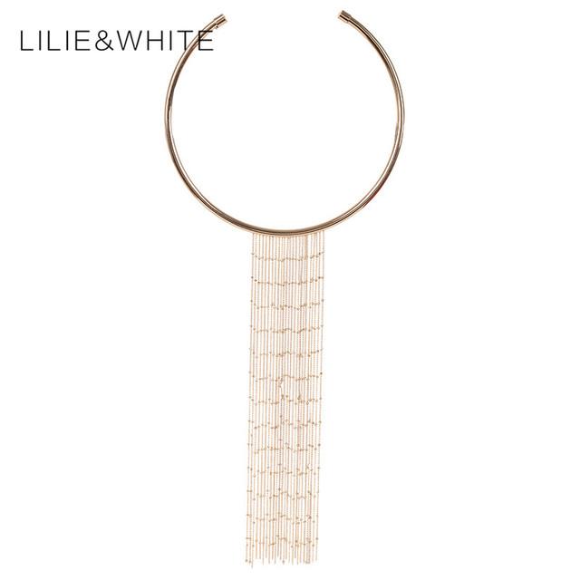 Mujeres choker collar de la aleación collares declaración colgantes de la borla de la joyería étnica collar de accesorios de las mujeres para el partido regalo hh