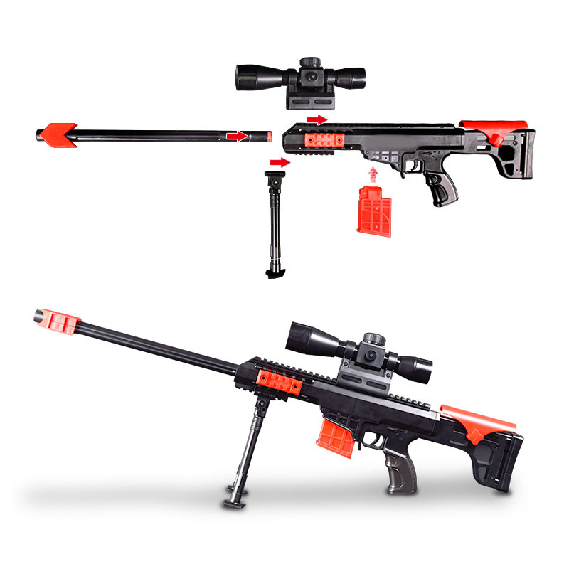 15pcs 69cm soft bullet airguns plastic military sucker warhead dart hollow hole head bul ...