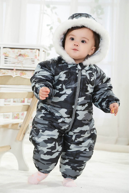 315c882e7 Free shipping new camouflage winter baby boys girls thicken cotton ...