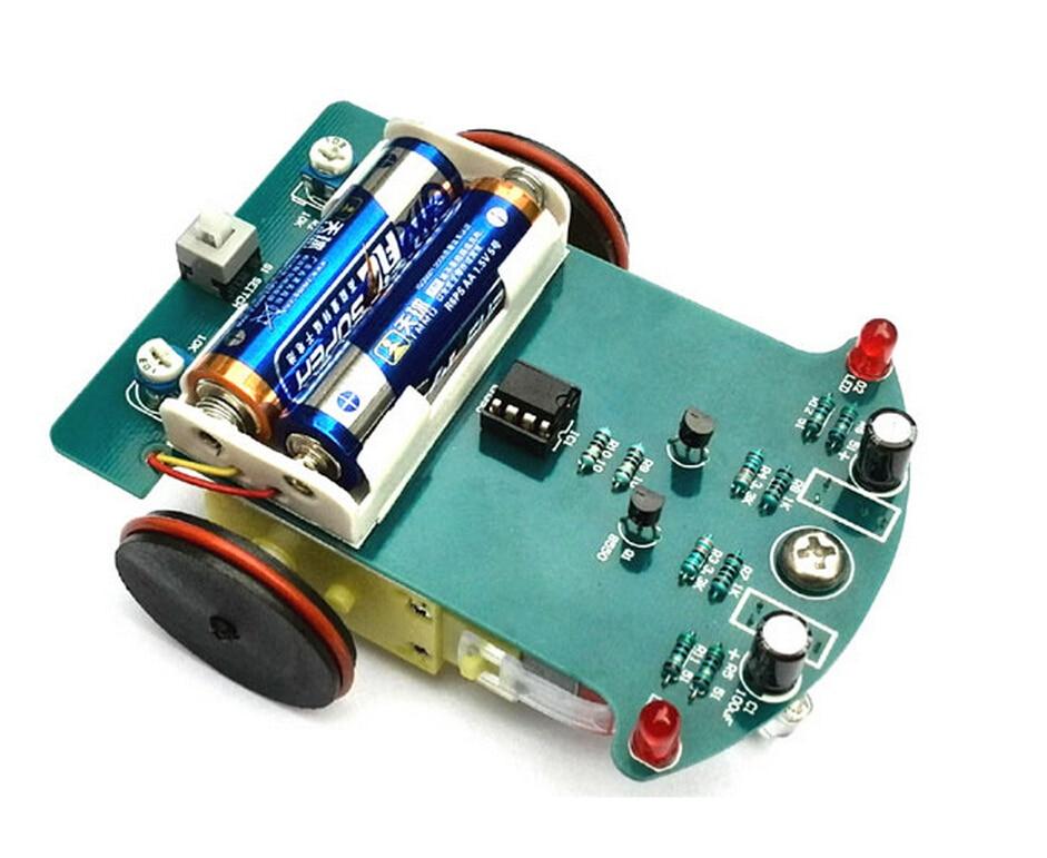 D2-1-type line patrol car kit / line patrol car / intelligent robot toys tracking car, TT DC motor drives Toy car