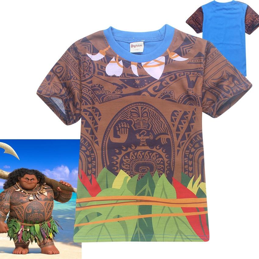 2017 Summer Baby T shirts Moana Maui Kids Boys Clothes Casual Girl T Shirts Children s