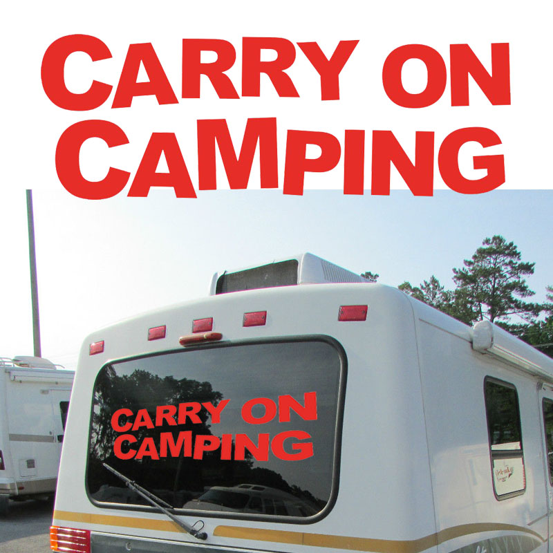 carry on jeeves Carry On Camping Graphic Camper Van RV Trailer Motor Home Vinyl Graphics Kit Decals Car Stickers