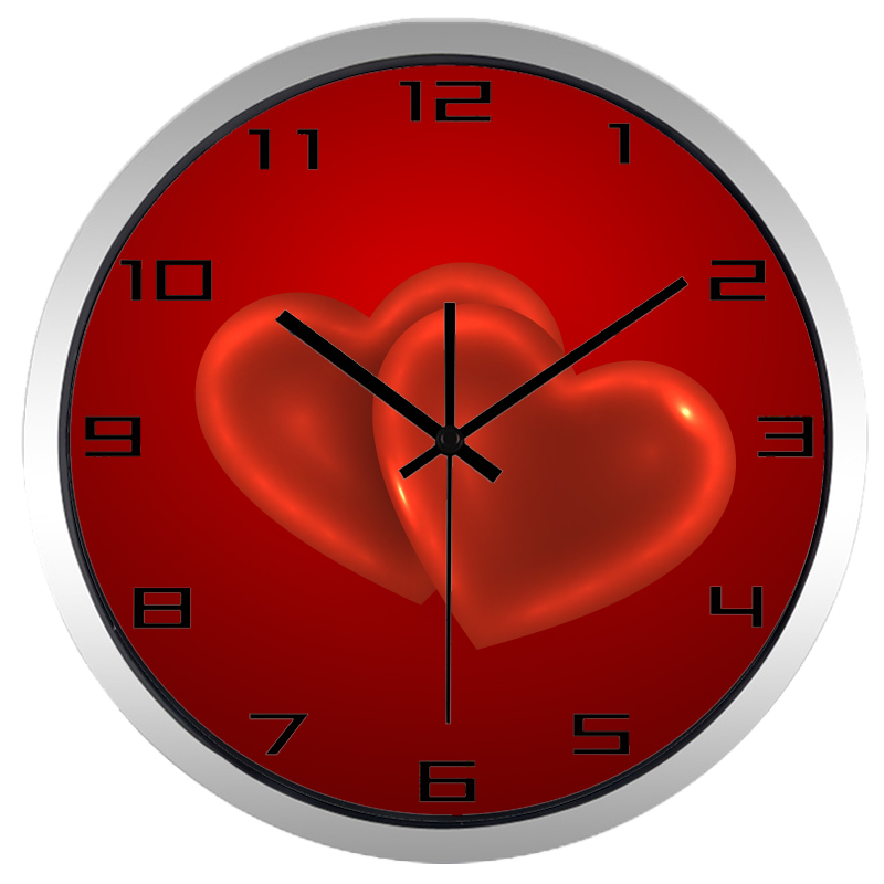 Aliexpress Buy Red Heart Wall Clock Popular Style Non Ticking