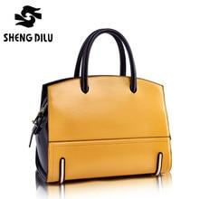 Desiger 2017 bolsa feminina mujer bolso de cuero genuino de las mujeres bolsos de cuero de alta calidad lemon color bag laides bolsas para mujeres