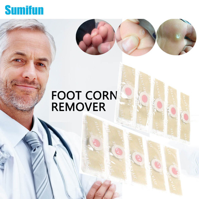 Sumifun 12Pcs Detox Foot Corn Remover Patch Removal Foot Pads Patches Feet Care Medical Plaster D1360