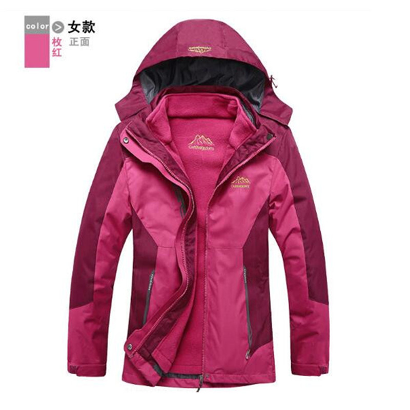 ФОТО Outdoor fleece jacket kapets Sport thicken 3 in 1 thermal keep warm windbreaker fleece innner hiking coat windstopper skiwear