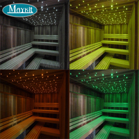 Maykit LED Fiber Optic Lights for Steam Room Decor with Shimmer Light Illuminator and Waterproof End Emitting Polymer Cable
