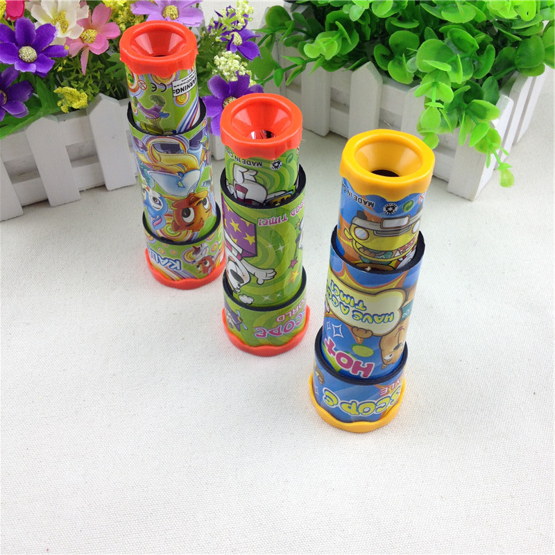 Classic Toys 3D Rotatin Kaleidoscopes Extended Rotation Adjustable Fancy Colored World Baby Toy 3 Segments Souptoys