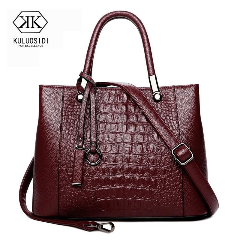 Alligator Genuine Leather Bag for Women 2019 Leather Luxury Handbag Women Bag Designer Sac a Main