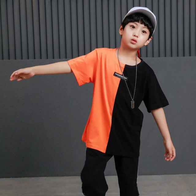 Trẻ Em Hip Hop Quần Áo Quần Áo Màu Khối Giản Dị Áo Sơ Mi Cao Cấp Cho Bé Gái Bé Trai Jazz Khiêu Vũ Trang Phục Phòng Khiêu Vũ Nhảy Múa Dạo Phố