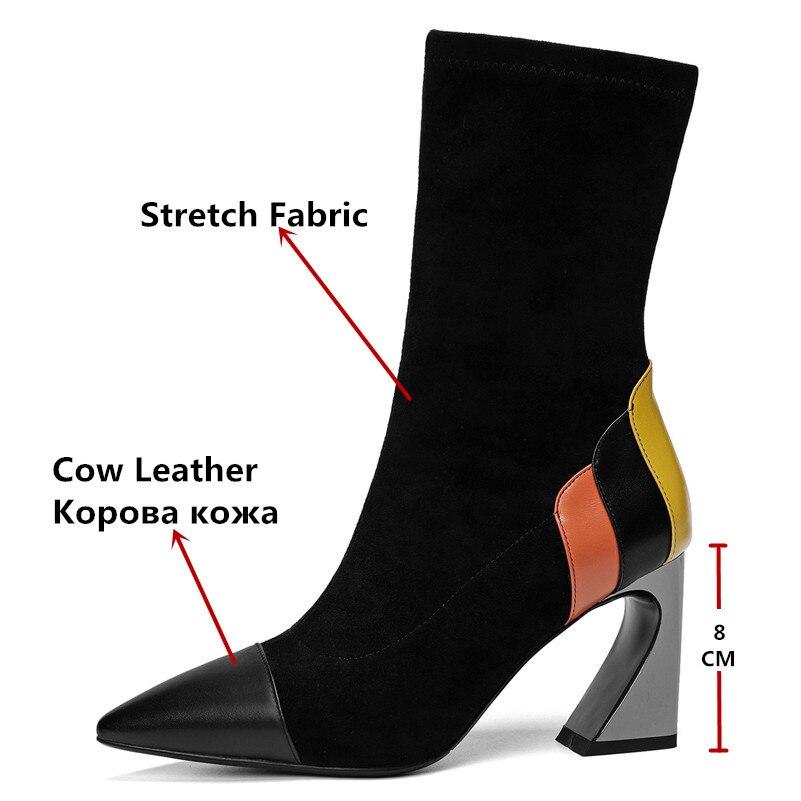 bc4d55c8e4ea Bottes De Femme Talons Sexy Parti Hauts Mariage Pointu Date Bout Conasco  Femmes Mi mollet Chaussures ...