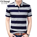 New 2017 Men's Brand Polo Shirt For Men Combed cotton Polos Men Short Sleeve shirt Brands Casual Stripe Tops