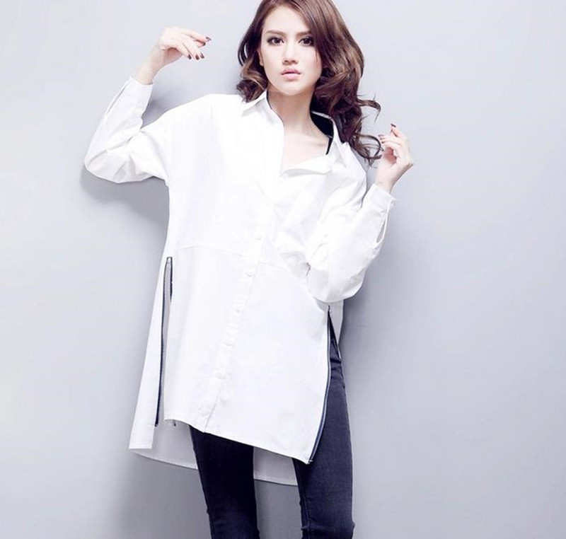 Womens Long White Shirt Photo Album - Fashion Trends and Models