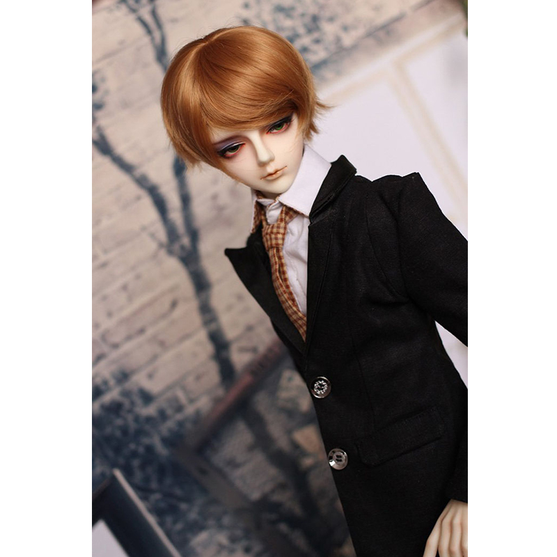 Bybrana Newest Style 1/3 1/4 1/6 1/8 Bjd Wig High Temperature LOVELY Blonde Colors Short Straight Doll Wig Msd SD BJD