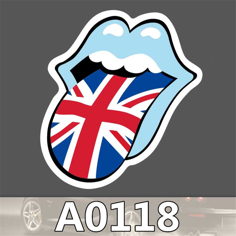0118 Not repeating waterproof stickers for Home decor Travel Suitcase Wall Bike fridge car sticker Sliding Plate Styling