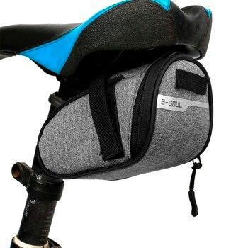 B-soul-Bolsa de montura de bicicleta portátil, a prueba de agua, portátil, bolsa para SILLÍN de ciclismo, bolsas de traseras, equipo de ciclismo 1