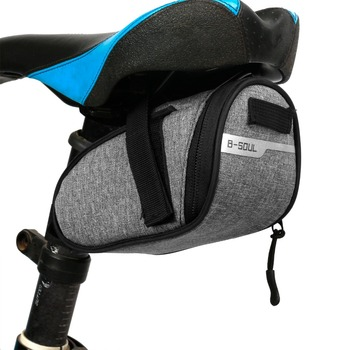 B-soul Portable Waterproof Bike Saddle Bag Portable Cycling Seat Pouch Bicycle Tail bags Rear Pannier Cycling equipment b soul ya130 bike bicycle oxford quick release saddle seat tail bag w reflective strips black