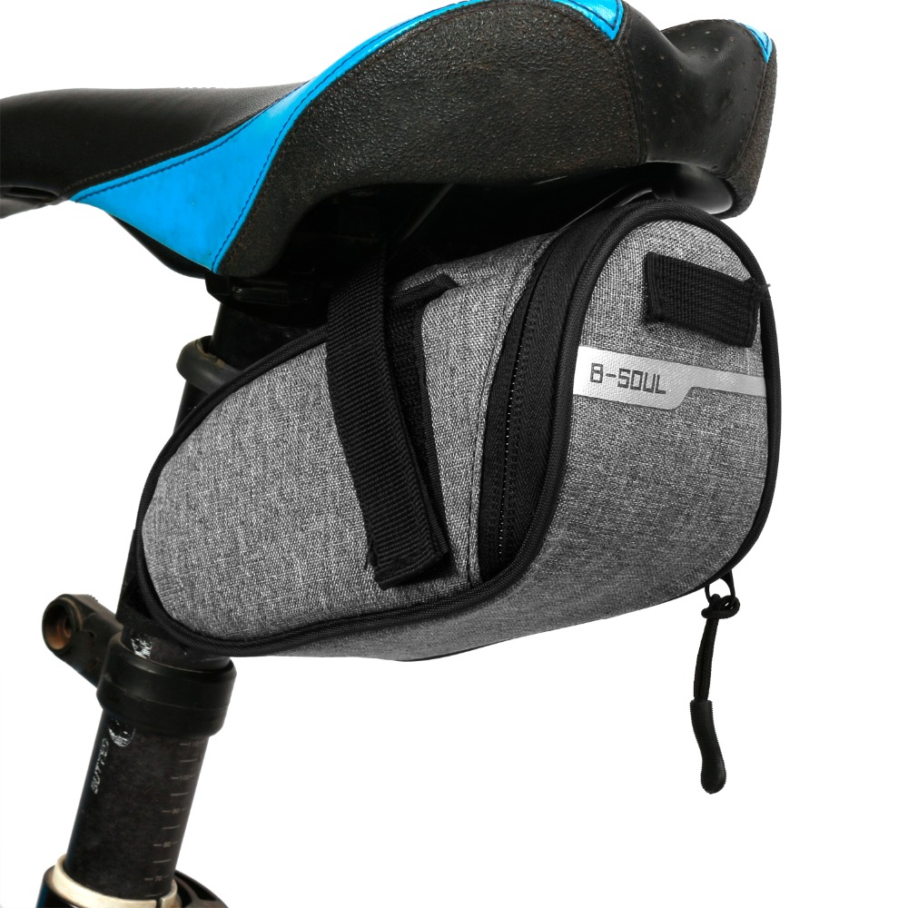 B-soul Portable Waterproof <font><b>Bike</b></font> Saddle Bag Portable Cycling Seat Pouch Bicycle Tail bags Rear Pannier Cycling <font><b>equipment</b></font> image