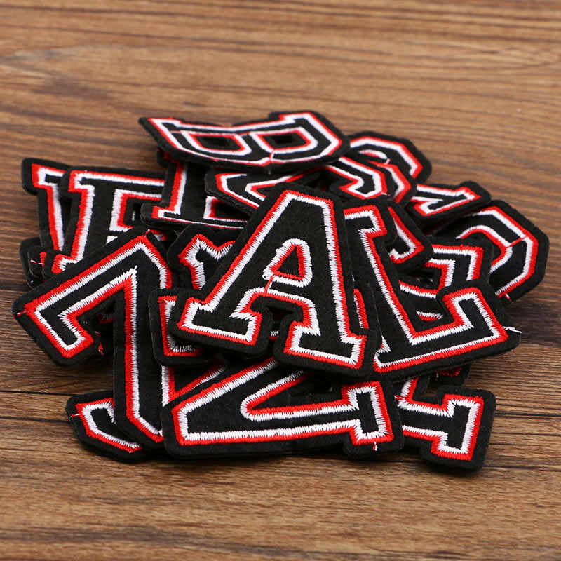 1 pcs/lot Cartoon Random Color PEACE Letters Embroidery Iron On Patches Clothes Appliques Sew On Motif Badge DIY Clothing Bag