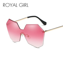 ROYAL GIRL New Fashion Brand Designer Luxury Rimless Gradient Lenses Glasses Women Ladies Cosy Shades Sunglasses Oculos ss121