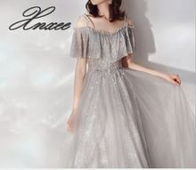 2019 spring new simple generous dress gown shoulder