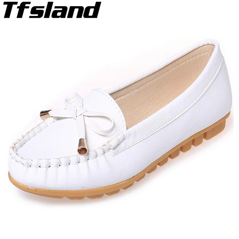Flats Shoes Women Slip On Bowtie Shoes For Women Loafers Moccasin Women Zapatos Mujer Ballet Comfortable Walking Shoes Sneakers