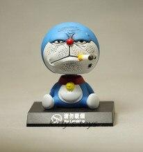 11 см трясущейся головой Doraemon игрушка модель автомобиля украшения аниме куклы фигурки пвх отлично подарки бесплатная доставка KA0451