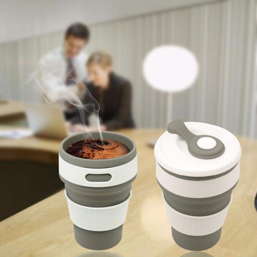 Tazas de café de viaje plegable de silicona Taza de té portátil - Cocina, comedor y bar - foto 4