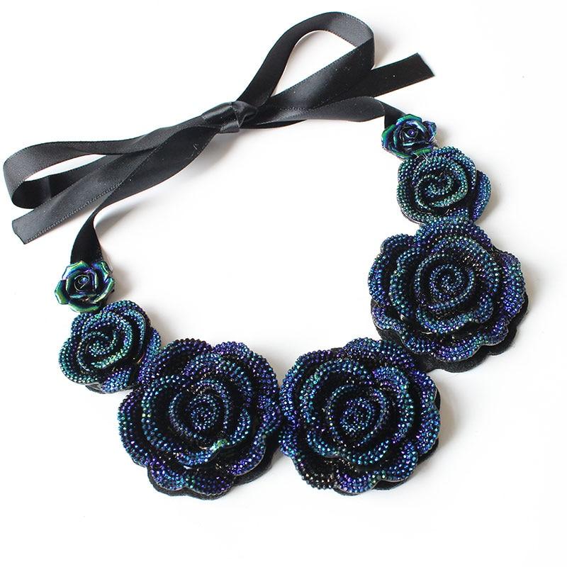 F&U Rose Necklace New Fashion Js
