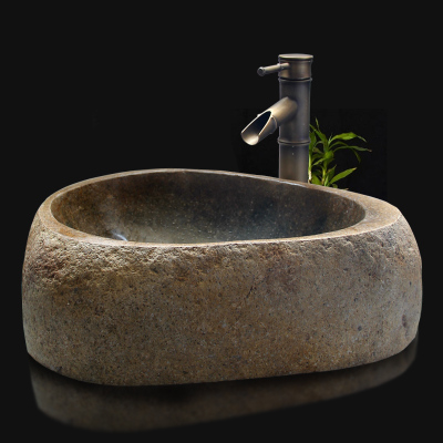 One Hundred Stone Sink Basin Natural Stone Sinks Art Pebbles On