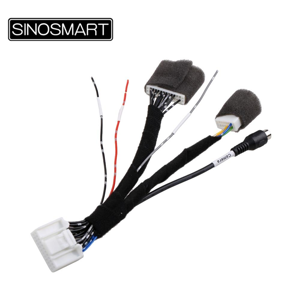 SINOSMART C24D 24-контактный кабель для Nissan 1 2 3 поколения со стандартной мультимедийной системой без повреждения автомобильных проводов