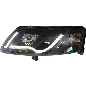 Image 4 - Bumper lamp for 2Pcs Headlights A6L 2005 2006 2007 2008 2009 2010 2011 car accessories,a6l car lights LED Daytime Running Lights