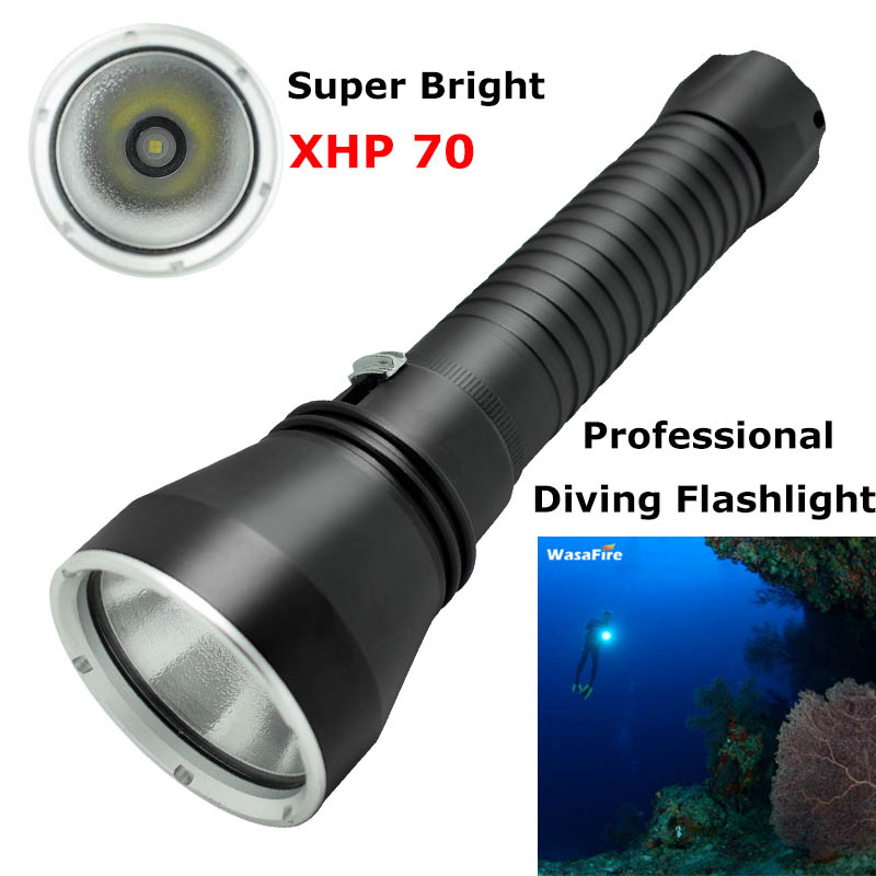 Ultra Bright XHP70 LED Scuba Diving Flashlight 3500lm Waterproof Dive Torch Light Searchlight Underwater Flashlights 18650/26650 portable ultra bright waterproof aluminum alloy mini led flashlight