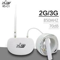 ATNJ 3G CDMA Signal Amplifier LTE Band 5 CDMA 850MHz Mobile Signal Booster Mini Mobile Phone Signal Repeater Celular GSM 850mhz