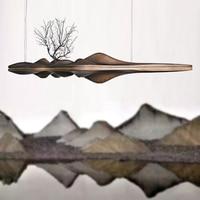 Деревянная подвеска свет Китайский Японский Nordic Творческий Ретро филиал лампы для столовой исследование Кухня River Island деревянный как лампы