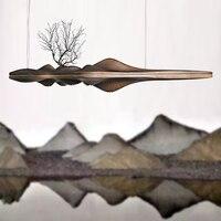 Деревянный подвесной светильник Китайский Японский скандинавский креативный Ретро филиал лампа для столовой исследование кухня Остров де