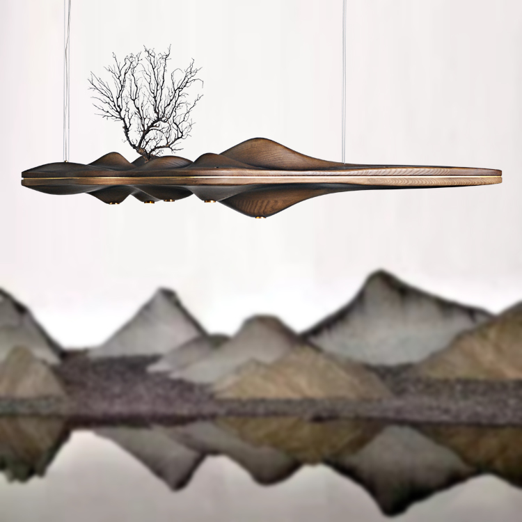 Деревянный подвесной светильник, Китайский Японский скандинавский креативный ретро светильник для столовой, кухни, острова, Деревянный св