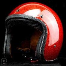 Мотоциклетный шлем, мужской мотоциклетный шлем, высокое качество, шлем для мотокросса, бездорожье, мотоциклетный шлем с крестиком, в горошек, Красный Блеск