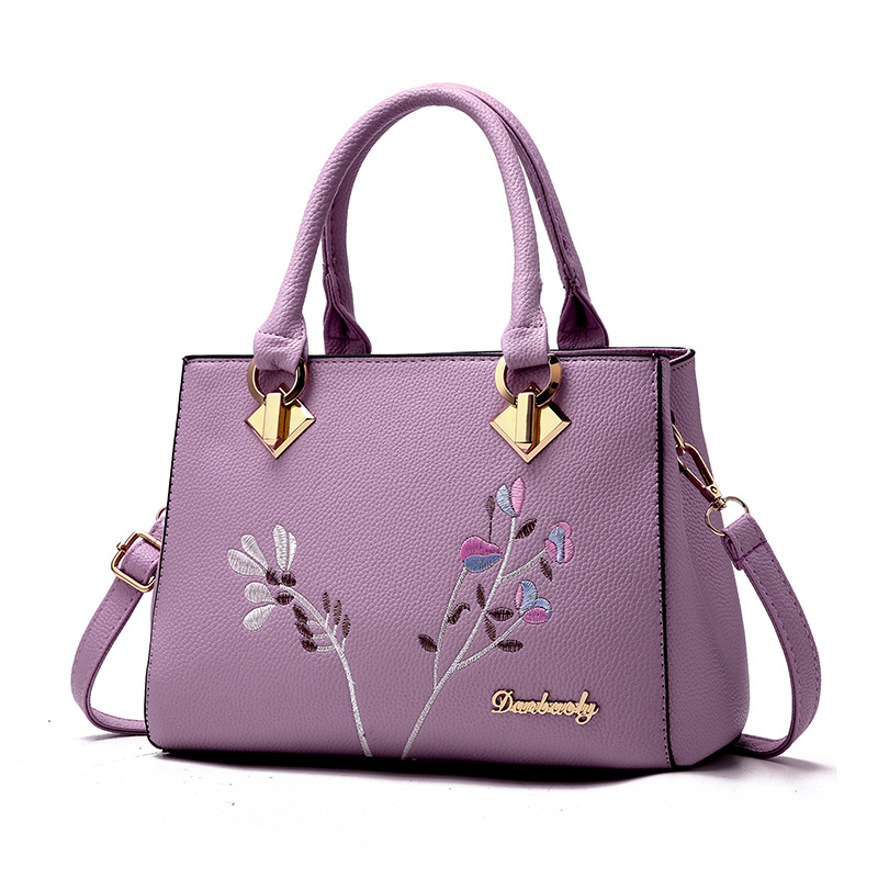 longmiao National Floral Women Messenger Bags Lady Designer PU Leather Embroidery Flowers Crossbody Shouler Bags Sac a Main 2