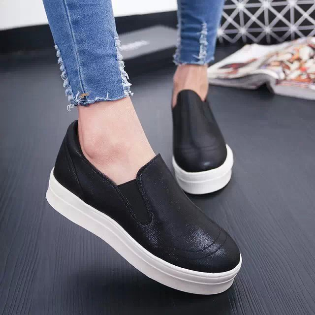 high quality 2015 Summer women platform creepers shoes thick sole sequins  slip on wedge sneakers zapatillas deportivas mujer-in Men s Casual Shoes  from ... a06a81094