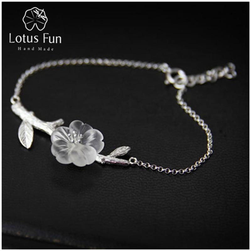 Lotus Fun Real 925 ezüst természetes kristály kézzel készített - Finom ékszerek