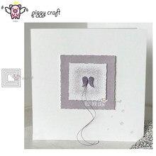 Piggy craft corte de metal morre molde 5 pçs irregular quadrado quadro scrapbook papel ofício faca molde lâmina punch stencils