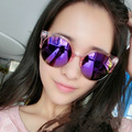 Мода Cat Eye Солнцезащитные Очки Женщины Марка Дизайнер Ретро Старинные Женские Солнцезащитные Очки óculos де золь тени UV400 очки goggle glas