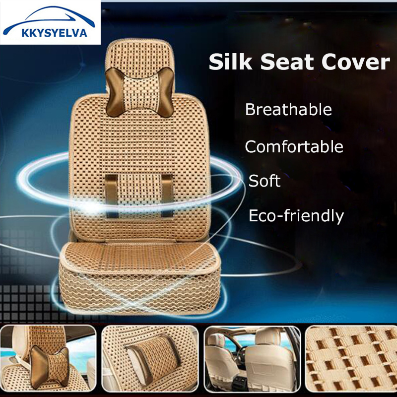 KKYSYELVA 1 Front Car Seat Cover For Toyota Auto Driver