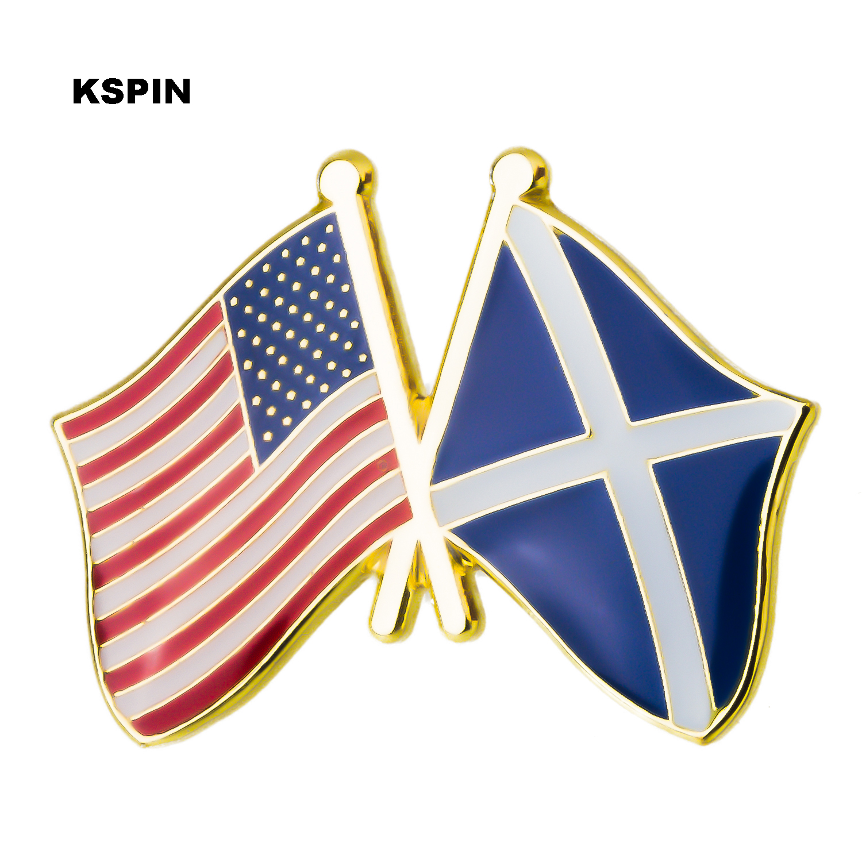 ENGLAND /& USA FRIENDSHIP Flags Metal Lapel Pin Badge