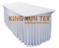 Rectangle Fitted Stretch Spandex Table Cover Tablecloth Lycra Long Bar Table Cloth For Hotel Event Party Decoration