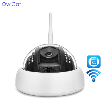 OwlCat Wire-Free1080P Indoor Full HD Dome IP Camera  Wireless Security with Audio Microphone SD Memory Slot Onvif WiFi IP Camer surveillance camera