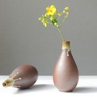 Handmade Ceramiczne Wazony Wazon Home Decor Retro Blat Do Kwiatów Kultury Wody Rośliny Salon Dekoracji Ślubnych