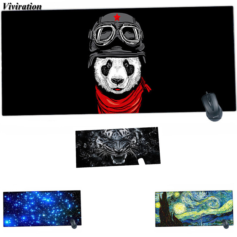 2018 New Arrival 90*40*2CM Rubber Gaming Mouse Pad Mat Viviration Locking Edge Computer Mouse Mat For Dota 2/CF/CS/Overwatch